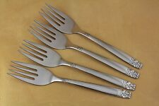 New listing Oneida Wm A Rogers Stainless Si 00006000 lverware - Aztec / Encore - Salad Forks (4)