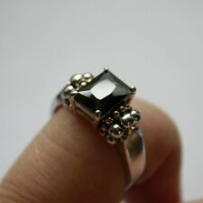 Antique Elegant Ring 18KGE with Natural Stone SIZE 9 #S082