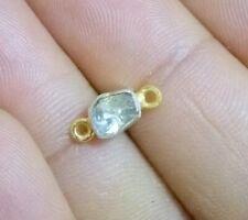 Natural Rose Cut Polki Diamond Charms Sterling Silver Handmade Vintage Charms