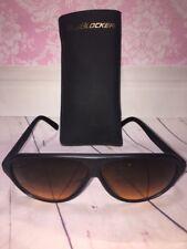 Official BluBlocker White Aviator Sunglasses Rare with case Estate find