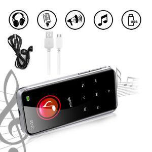 Bluetooth MP3 Player 8 16 32 GB MP4 FM Radio Recorder HIFI Sport Music Speakers
