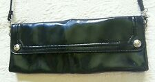 FRANCO SARTO  Black Patent Clutch/Cross Body Bag
