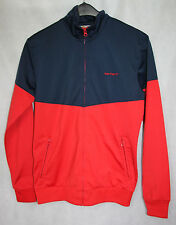 MENS CARHARTT TRACK TOP ZIP JACKET RED / BLUE sz S - VGC