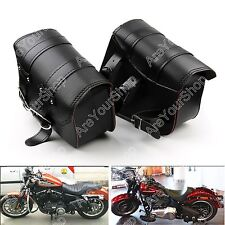 PU Leather Motor Side Bag Saddle Bags For Harley Sportster XL883 XL1200 BK K