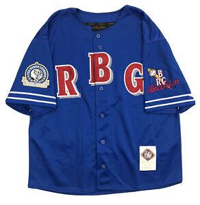 Brooklyn Royal Giants NLBM Baseball Jersey Size 2XL Blue Throwback Stitched