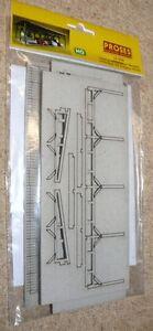 HS Proses PLS-006 Lasergeschnittener Bausatz Unterstell für 4 Autos H0