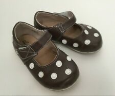 Puddle Jumper PJs Girls Shoes Brown White Polka Dot Mary Janes Size 7
