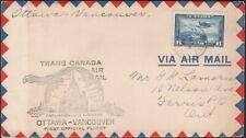CANADA, 1939. First Flights C6, Ottawa - Vancouver