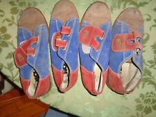 Vintage Size 4 Men Kids Bowling Shoes Red Blue suede leather girl 5.5 Craft Left