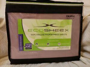 Sheex Eco Sheex 100% Viscose Bamboo Cal King Sheet Set Lilac