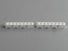 Lego Electric - 2 x White 1 x 8 Stud Light Brick with 3 Prism - (2500c01)