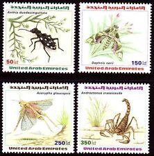 UAE 1999 ** Mi.609/12 Tiere Animals   Arthropoden Skorpion Libelle