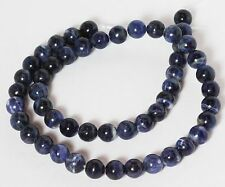 "8 MM Sodalite Round Semi precious Gemstone Beads 16"" Strand /  1.2 MM Hole"