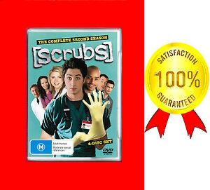 SCRUBS, LIKE NEW,  COMPLETE SECOND SEASON 2,  4-DISC DVD SET
