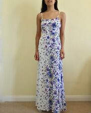 Urban Outfitters Kimchi Blue Summer Dress Floral Purple Maxi Strappy XS 6 8 W26