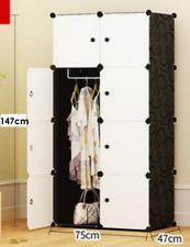AU DIY 8 Cube Storage Cupboard Cabinet Wardrobe Shoe Rack Toy Book Shelf white