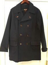 Michael Kors Men's Jacket Coat Cotton Navy Double Breasted Size Medium EUC