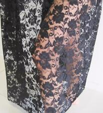 1 meter Flower Floral Stretch Lace Fabric Vintage Sewing Soft Tulle Mesh Dress