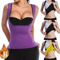 Women Neoprene Push Up Sauna Suit Sweat Waist Trainer Body Shaper Weight Loss RW