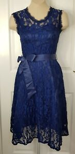 LINDY BOP  NWT Sally May Party Dress - Dark Blue Lace - UK 8/10