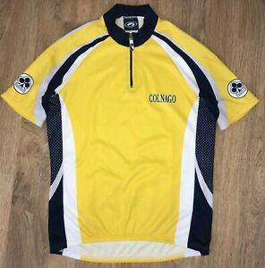 Colnago Parentini RARE Yellow cycling jersey size L