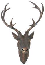 Geweih Hirschgeweih 20x12x30cm bronze Kunststoff 10ender Hirschkopf Wanddeko
