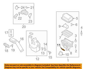 HYUNDAI OEM 17-18 Elantra Air Intake-Intake Tube O-ring 28165F2000