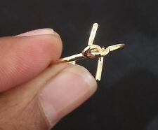 Rings Open Adjustable Womens Ring . 14k Yellow Gold Plated Knot Toe