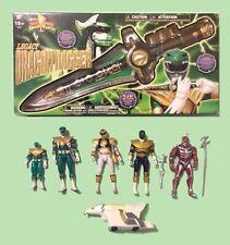 MISB Power Rangers Legacy Dragon Dagger + Ranger Figure Lot Lord Zedd Green
