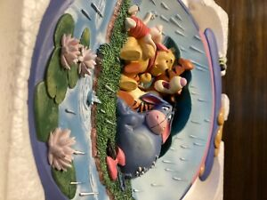"""Winnie the Pooh """"it's just a small piece of weather"""" limited collectors plate"""