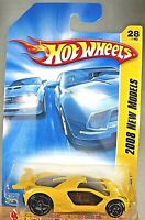 2008 Hot Wheels #28 New Models 28/40 IMPAVIDO 1 Yellow w/Black OH5 Spoke Wheels