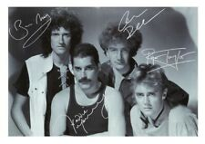 More details for (#166)  queen freddie mercury signed  a4 photo//framed (reprint) great gift ++