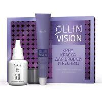 Eyebrow & Eyelash Dye Kit Eye Brow & Eye Lash Ollin Vision Black Brown Graphite