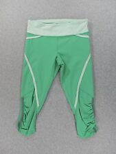 LuLuLemon Capri Stretch Running Training Yoga Pants (Womens Size 4) Green
