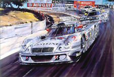 Signed Mercedes Clk Lm Ludwig Zonta Nicholas Watts Limited Edition Print