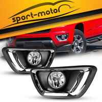 for 2015-2018 Chevy Colorado Clear Bumper Fog Lights Lamps+Wiring Kit Left+Right