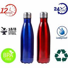 Portátil Botella de Agua Acero Inoxidable Térmico Caliente Frío 500 ML