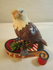 "Jim Shore Heartwood Creek American Eagle ""Home of the Brave"" 4037682 3.5x3.5"""