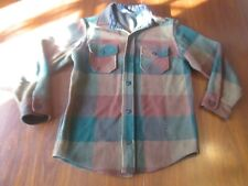 Vintage Styled for Students Sears - Heavy Wool Flannel Shirt Board Shirt Kids