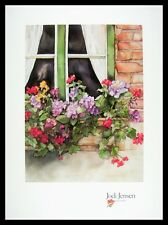 Jodi Jensen Watercolors Poster Bild Kunstdruck mit Alu Rahmen in schwarz 76x56cm