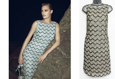 MONSOON Grey DAISY Diamond Vintage 20's Sequin Classic Shift Dress 8/10 rrp £149