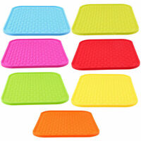 Non-slip Silicone Table Heat Resistant Mat Dish Coaster Drink Cup Placemat Pad