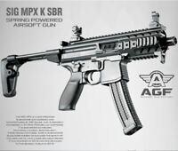 MPX K SBR Air Gun Spring Power Pistol Tommy 6mm BB Toy Kids Children Military