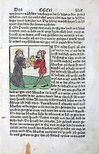 INKUNABELBLATT HIERONYMUS ALTVÄTER LEBEN AUGSBURG SORG ALTKOLORIERTER HS 1482