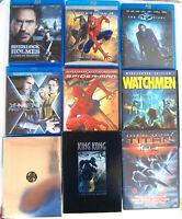 Lot 9 Superhero Comic Book Action Movies Watchmen X-Men Spiderman, DVD BluRay