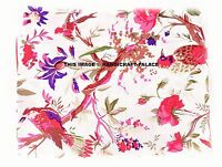 """Dressmaking Hand Block Sewing 44""""Indian Craft White Cotton Fabric By the Metre"""