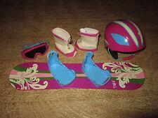 Retired American Girl Snowboard and Gear MyAG Helmet Goggles Boots EUC
