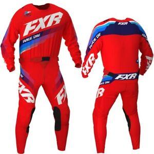 Brand New FXR Adult Clutch Red Motocross MX Kit Size 30W Medium Jersey