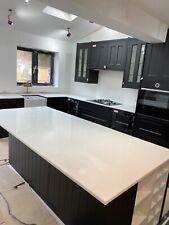Snow White  Quartz Kitchen Worktop   All colours available   Affordabl