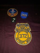 Vintage Patch Lot Teamsters Detroit Yankee Air Force Lot Of 4